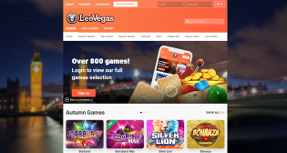 Leo Vegas's homepage offers a lot of entertaining slot games.