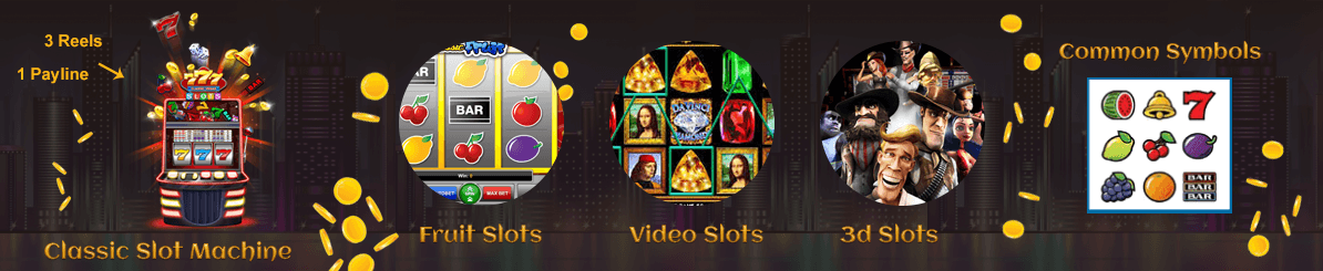 There are three categories where casino slot games.